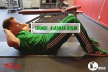 Vēdera preses klasika - Crunch jeb Ķermeņa augšdaļas pacelšana (mugurkaula saritināšana)