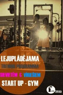 Treniņa plāns, uzsākot treniņus trenažieru zālē (START-UP variants)