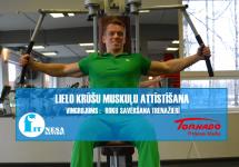 Roku savēršana trenažierī /krūšu muskuļiem/