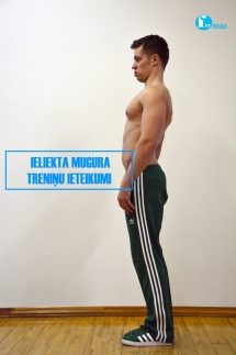 Ieliekta mugura/ treniņu ieteikumi